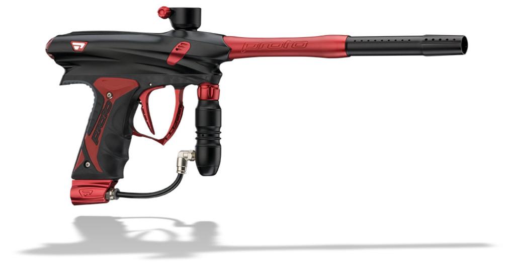 Proto Rail paintball geweer rood zwart